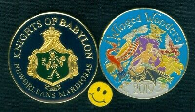 2019 Krewe Of Babylon ( Butterfly ) Multi Color Mardi Gras Doubloon New Orleans