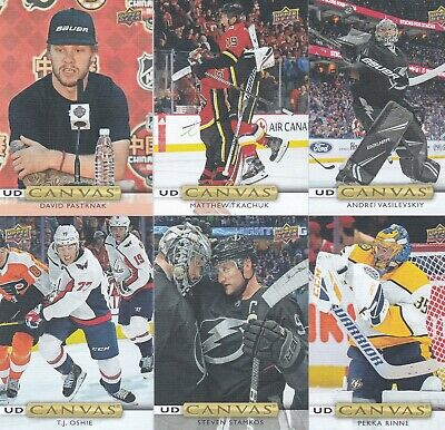 2019/20 Upper Deck Series 1 Ud Canvas Lot Of 18 All Brand New