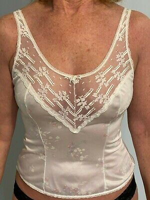 VTG Beautiful Ashley Taylor Floral Print with Lace Camisole  Medium  Made in USA