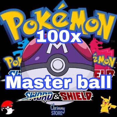 Pokemon Sword and Shield - 100 x Master Ball Bundle - Fast delivery -Cheapest