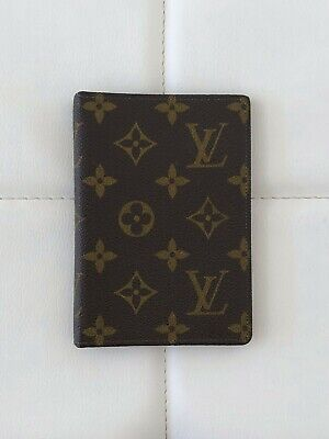 Authentic LOUIS VUITTON Small Notebook Address Book Organizer Case Saks Monogram