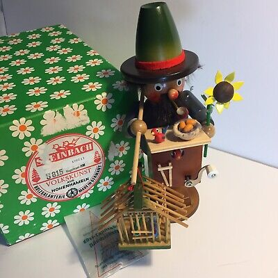 Steinbach Smoking Man Bird Watcher Vintage Wooden German Collectable Figurine