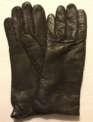 New ISOTONER ARIS Genuine Leather Womens Brown Sz 8 Lined Gloves Driving VINTAGE