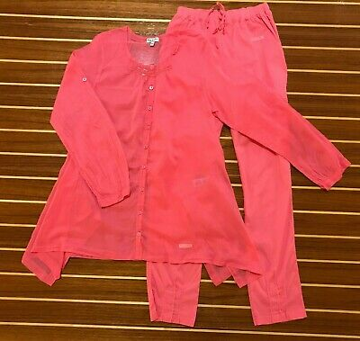 Nwot Eliane Et Lena Pink Two Piece Long Sleeve Top And Pants ~ 12 A