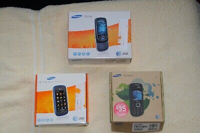 Lot of 3 Samsung Cell Phones - Strive, Eternity II & Evergreen