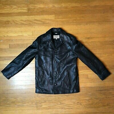 VINTAGE 1981 GUESS Black Leather Jacket Adult Size: Small