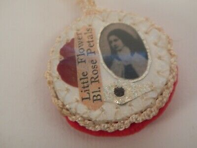 St Therese of Lisieux Blessed Petal Rose Vintage Relic Little Flower Of Jesus
