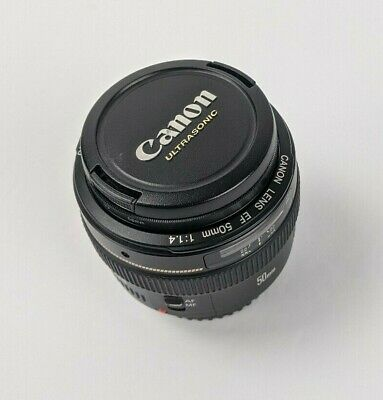 Canon EF 50mm F/1.4 USM Lens with UV filter