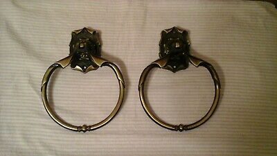 Vtg Amerock Carriage House Antique Towel Ring Pair VGC--Amerock Carriage House