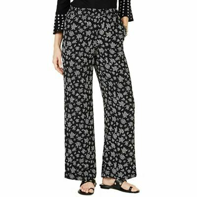 MICHAEL Michael Kors Womens Pants Black Size Small S Floral Stretch $98 281