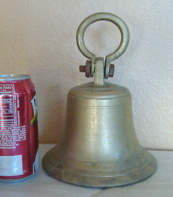 """Old Heavy Cast Iron Bell 6"""" large"""