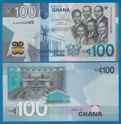 Ghana 100 Cedis P New 2019 UNC  Low Shipping! Combine FREE!