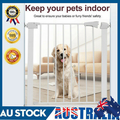 Adjustable Baby Safety Gate Door Pet Safety Fence Stair Through Walk For Kids