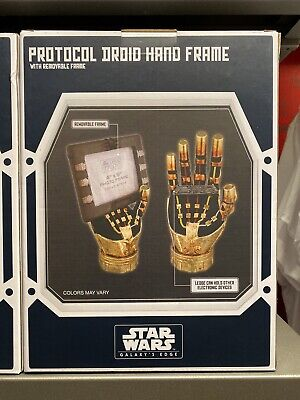 Star Wars Disney Parks Galaxy's Edge  Protocol Droid Hand Photo Frame + Bonus
