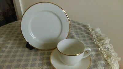 Maxwell&Williams White Gold Hand Painted First Quality Porcelain Trio Good Cond.