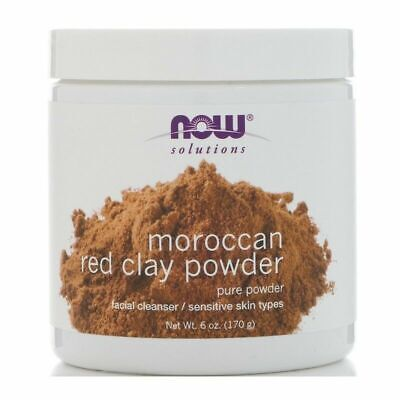 Now Foods, Solutions, Moroccan Red Clay Powder, 6 oz (170 g)