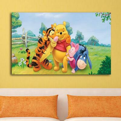 Disney winnie the pooh HD Canvas print Painting Home decor Picture Room Wall art