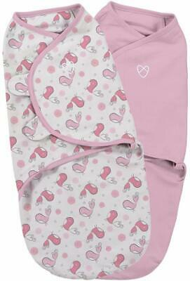 SwaddleMe Original Baby Swaddle 0-3 months 3.2-6.4kg Small/Medium-2 Pack Cotton