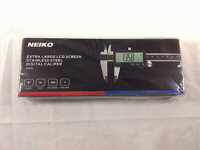 """Neiko 6"""" Extra Large Lcd Screen Stainless Steel Digital Caliper New"""
