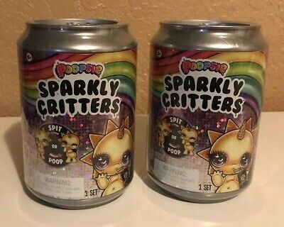 Poopsie Sparkly Critters Spit or Poop Slime Surprise Lot Of 2 (MGA) Cans NEW