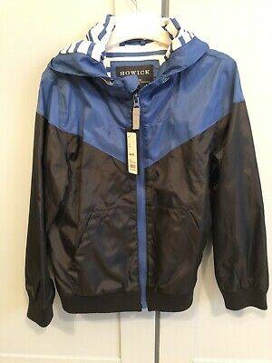 Brand New Black Blue howick Zip Up Jacket With Hood