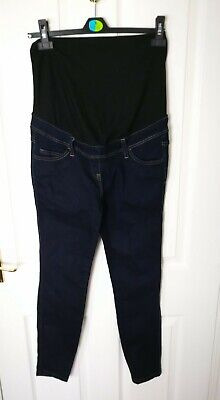 Next Womens Ladies Maternity Jeans Size 10 Skinny Cotton Trousers Blue Pants X