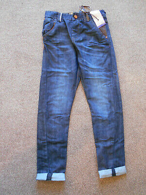 Next Tapered Ankle Boys O Leg Jeans Age 9 Years Blue BNWOT