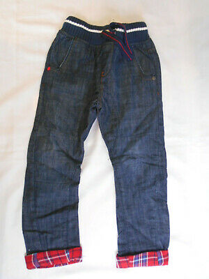 Next Boys Jeans Trousers Age 4-5 Years Blue Knitted Waistband BNWT