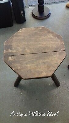 Antique milking  stool handmade 3 legged