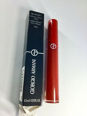 Swatched-once GIORGIO ARMANI LIP MAESTRO INTENSE VELVET COLOR SHADE 400