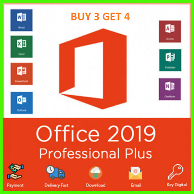 Microsoft MS Office Pro Plus 2019 - GENUINE Lifetime Retail, Fast Delivery!