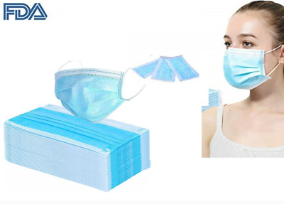50 Pcs Medical Surgical Antiviral Flu Coronavirus Disposable Face Mask Facemask