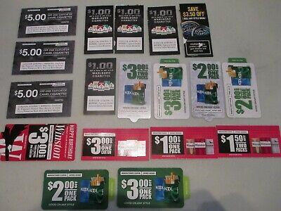 Tobacco Coupons Several Brands Expire Between 2-29-20 And 6-30-20 Large Value