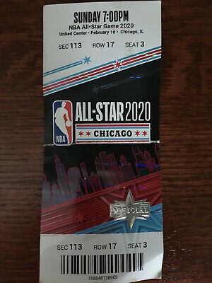 2020 NBA All Star Game Full Ticket Stub Chicago 2/16/20