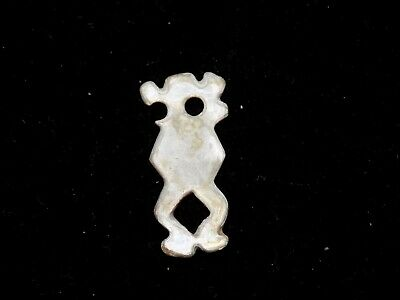 Pre-Columbian Miniature Mother of Pearl Pendant Bead