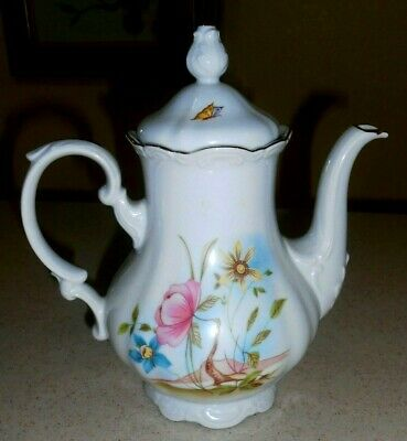 """LIMOGES Chocolate/Coffee Pot Mont Venus 9.5"""" Tall - France"""