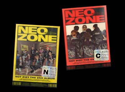 NCT 127 NCT127 2nd ALBUM NCT #127 Neo Zone CD + PHOTOCARD + POSTCARD + POSTER