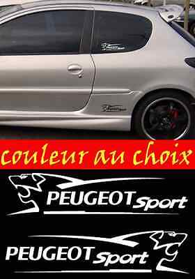 lot 2 Stickers Autocollant Sponsor Peugeot Sport sticker tuning racing