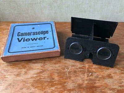 Camerascope 3D Viewer with original box - Stereoscope Vintage Antique 1920s