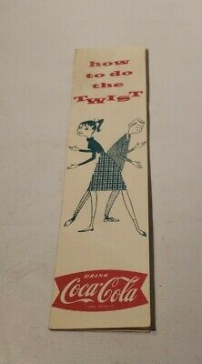 1968 Coca-Cola Coke Soda How To Do The Twist Couple Instructions booklet