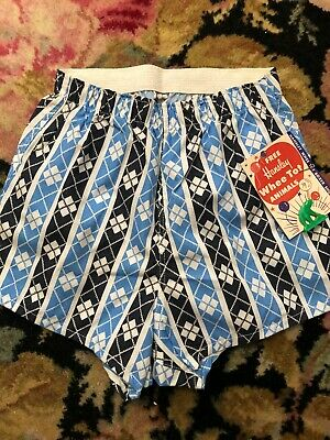 1950s Vintage BOY'S BOXER SHORTS with HANSLEY Whee Tot Animal~Plastic Toy NOS