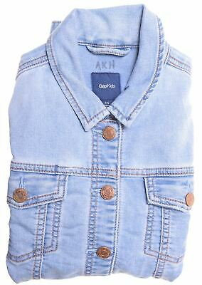 GAP Girls Denim Jacket 12-13 Years 2XL Blue Cotton Regular  N202
