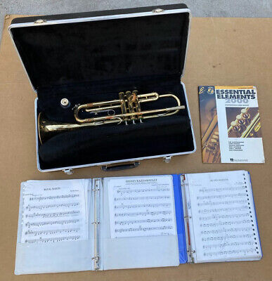 Bundy Selmer Trumpet Designed By Vincent Bach With Case and Mouthpiece Model ML