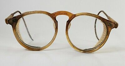 Used - Vintage Safety Glasses - Optical Side Protector - LCH lenses circa 1940s