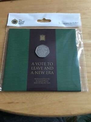 uncirculated 50p royal mint BREXIT Commemorative Coin