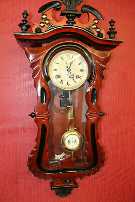 Old Wall Clock Regulator Chime Clock 31 Day