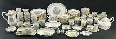 HUGE 135 PC Royal Albert SILVER BIRCH 16 Place Settings Coffee for 16 Tea for 20