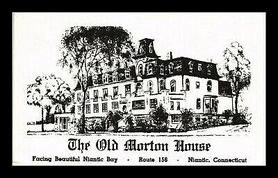 Us Postcard The Old Morton House On Niantic Bay Route 156 Niantic Connecticut