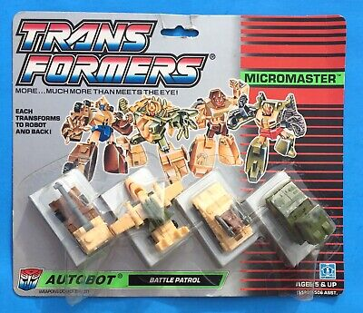VERY RARE VINTAGE G1 TRANSFORMABLE MICROMASTER BATTLE PATROL NEW SEALED MOSC !