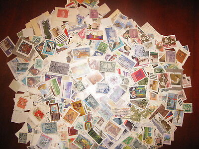 CANADA USED BULK OFF PAPER 4 OUNCES - 116 GRAMS  LOT - 1/4 pound